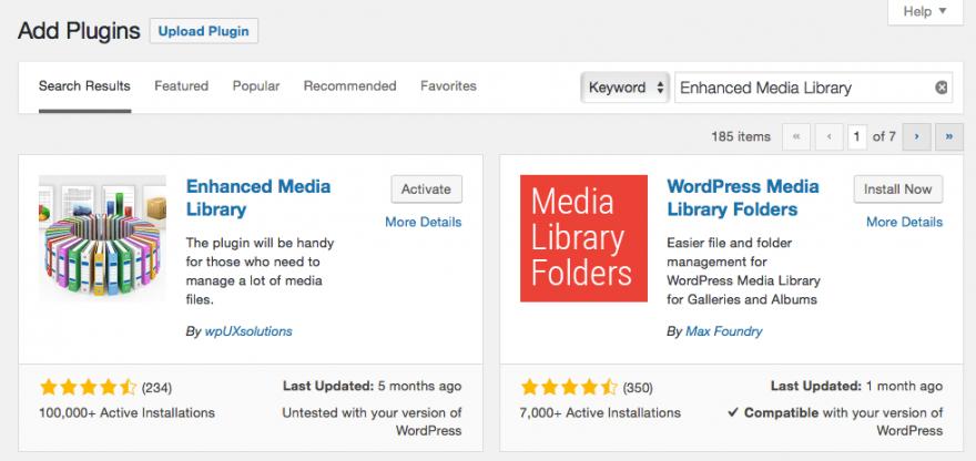 El complemento de biblioteca multimedia mejorada.