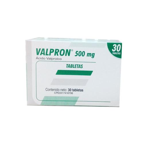 Valproato de Sodio Valpron 500 mg x 30 Tabletas