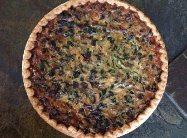 Spinach Sausage Quiche (vegetarian)