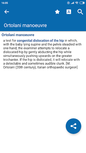 Oxford Medical Dictionary screenshot for Android