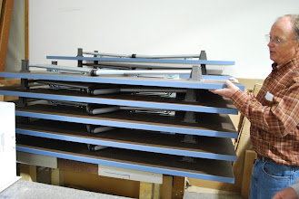 Photo: The Folding Sing Table stores easily.