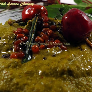 Red Sorrel Leaves Chutney