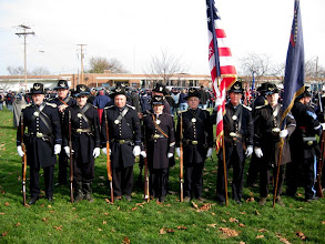 Photo: Here's the 4th U.S. in formation, all wearing their frock coats and Hardee hats prior to stepping out.