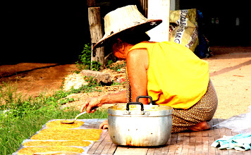 Photo: Day 329 - Old Lady Making Her Dried Mango Sweet Treats