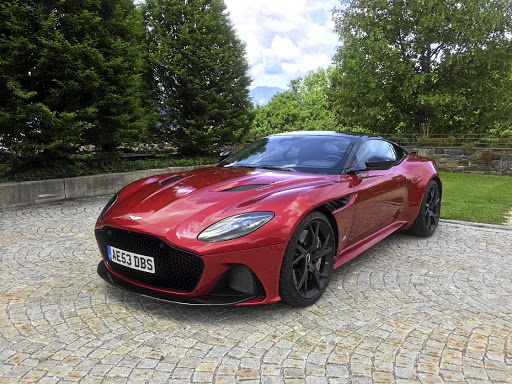 The Aston Martin DBS Superleggera at the international launch. Picture: LERATO MATEBESE