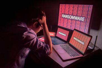 Ilustrasi terkena serangan Ransomware