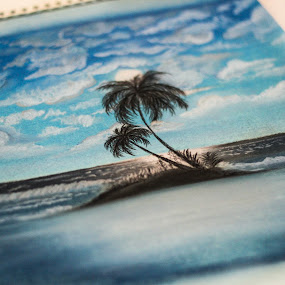 Blue Night by Shahnila Ejaz - Drawing All Drawing