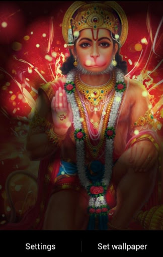 Lord Hanuman Fireflies LWP