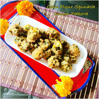 Corn Flour Spinach Onion Pakora