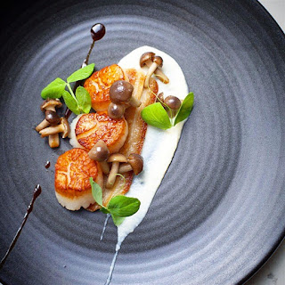 Seared Scallops with Twice Cooked Pork Belly