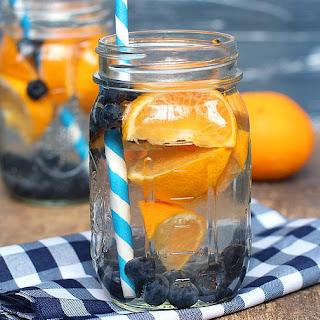 Blackberry and Orange Detox Water