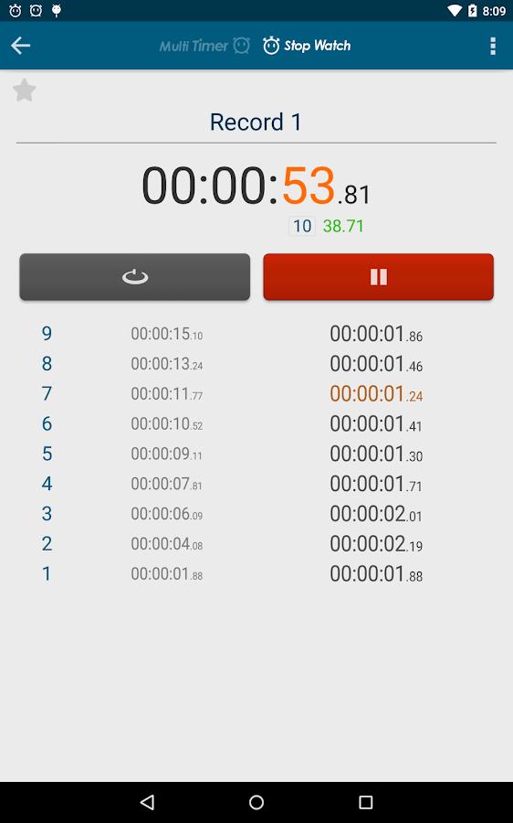 Multi Timer StopWatch - screenshot