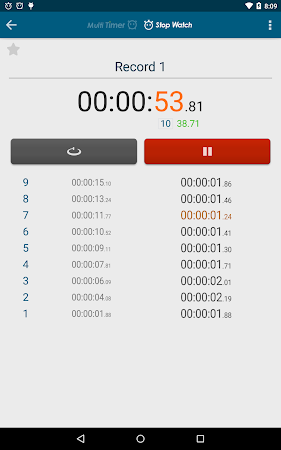 Multi Timer StopWatch 2.3.1 screenshot 257035