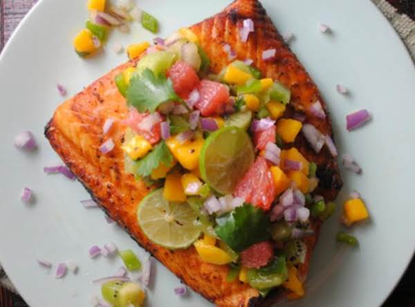 Chile Lime Salmon With Caribbean Salsa Recipe