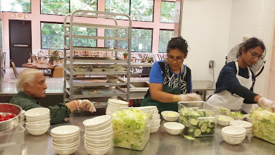 Photo: Boston volunteers cooking food for 300 people during Sewa Day 2014