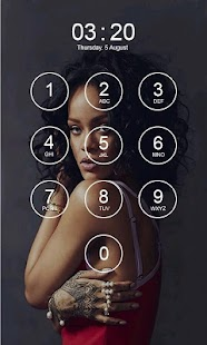 Rihanna Lock Screen 4K - náhled