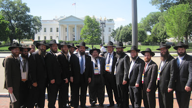 Photo: Goup of Chabad Rabbis in front of the White House