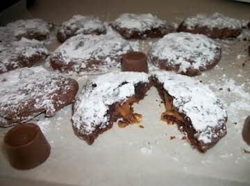 Rolo Fudge Cookies
