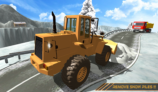 Snow Excavator Dredge Simulator - Rescue Game screenshot 10