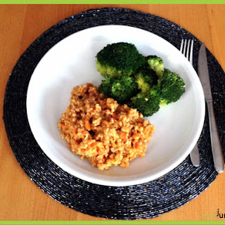 Clean Eating Farro Risotto with Broccoli and Carrots