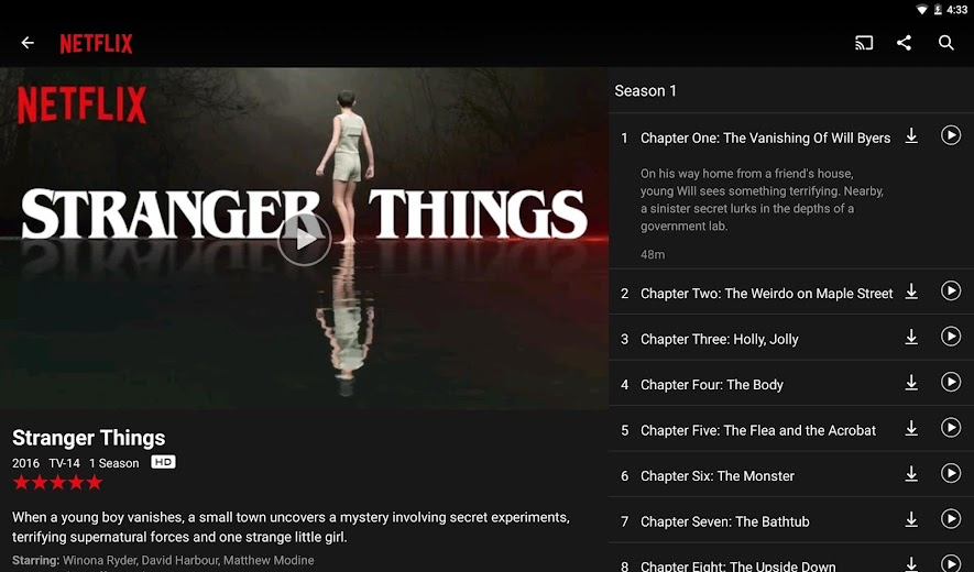 Screenshot 6 for Netflix's Android app'