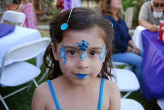 Photo: Pretty face painting by Bella the Clown in Rialto, Ca. Call to book Bella today at 888-750-7024