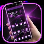 Abstract Black Purple Light Theme icon