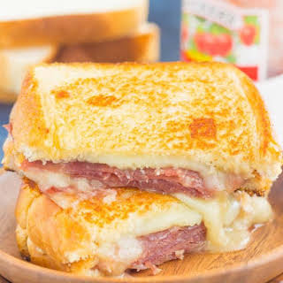 Prosciutto, Raspberry and Brie Grilled Cheese.