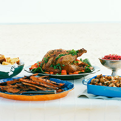Photo: Beach Thanksgiving menu