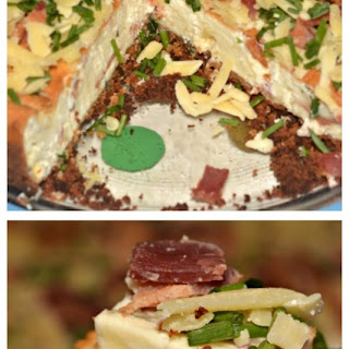Cheddar & Bacon Savory Cheesecake.