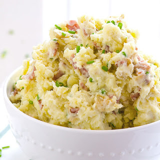 Turkey Bacon and Cream Cheese Mashed Potatoes