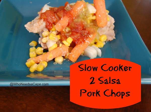 Slow Cooker 2 Salsa Pork Chops Recipe