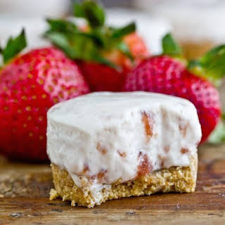 No-Bake Strawberry Cheesecakes.