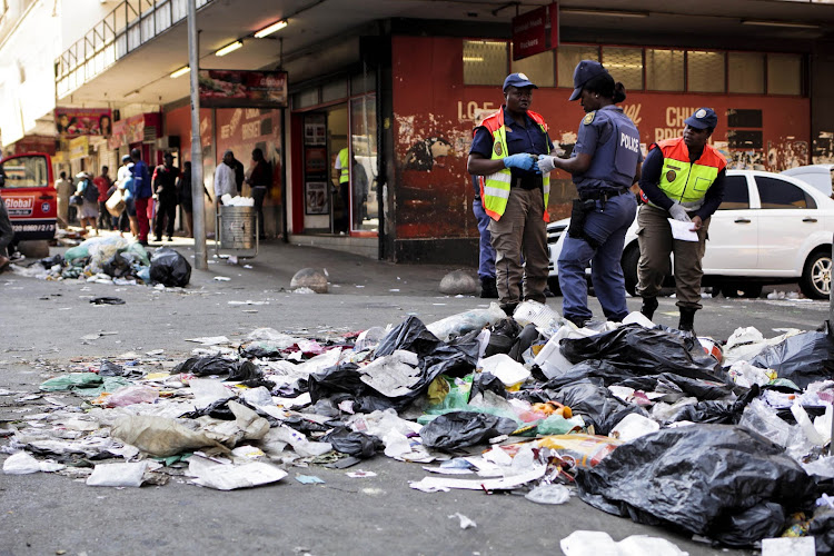 Image result for dirty hillbrow streets