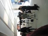 Photo: Cameras ready to hear the shpiel