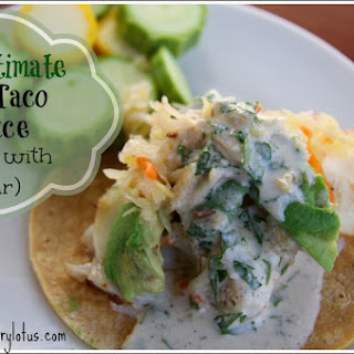 The ULTIMATE Fish Taco Sauce (made with kefir)