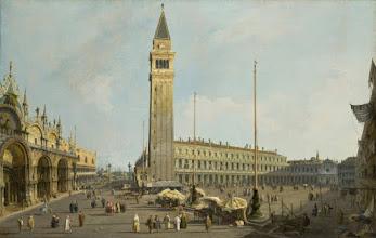 """Photo: Canaletto, """"Veduta di Piazza San Marco"""" (1740)"""