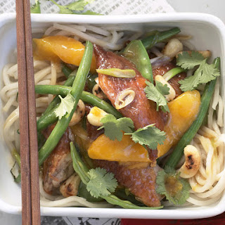 Barbecued Duck and Mango with Udon Noodles