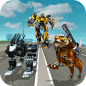 Multi Robot Transform Police Dog, Tiger & Wildcat