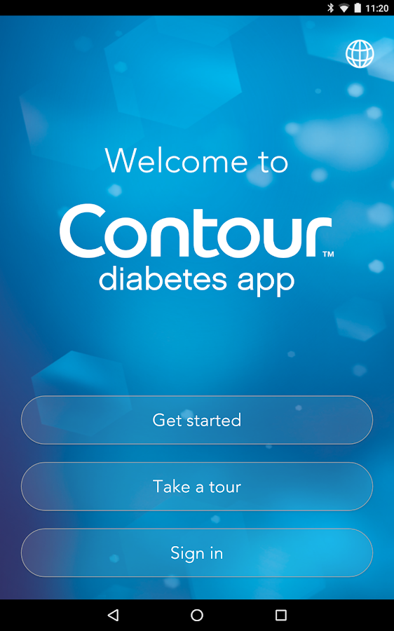 CONTOUR DIABETES app (IE)- screenshot