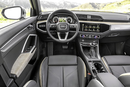 The biggest possible headache inside the Q3 is the dumping of all rotary dials in favour of using the touchscreen infotainment system for everything. Picture: SUPPLIED