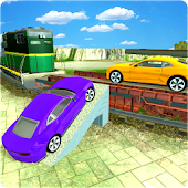 Crazy Train Car Cargo Duty Driver 3D Sim Game