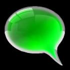 GO SMS Pro Kiwi Glass Theme icon