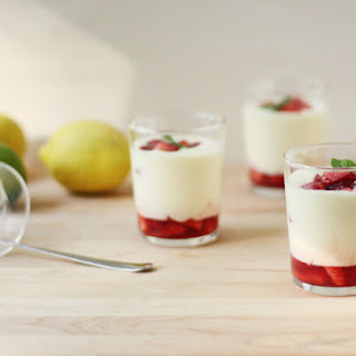Citrus Mousse with Macerated Strawberries Recipe