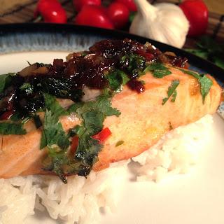 Oriental Salmon with Coconut Rice Recipe