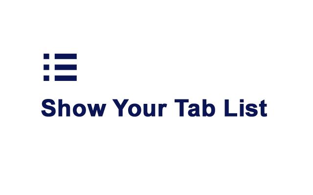 Show Tab List