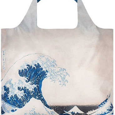 LOQI The Great Wave Tote Bag LOQI The Great Wave 環保袋  Big blues. Wild Whites. Stormy Seas. Make a splash with Hokusai's The Great Wave