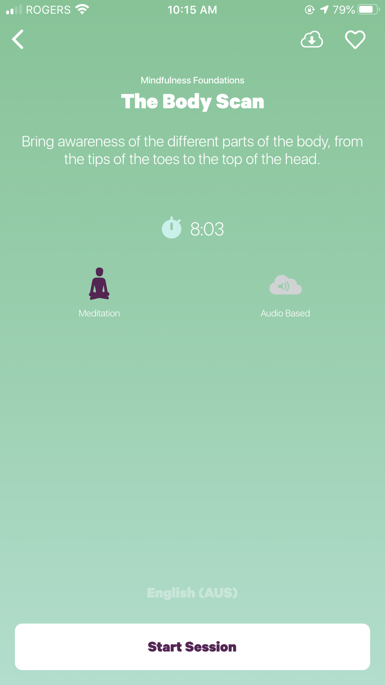 Smiling Mind app - The Body Scan