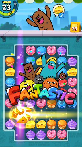 Candy Match 3 Puzzle: Sweet Monster screenshots 2