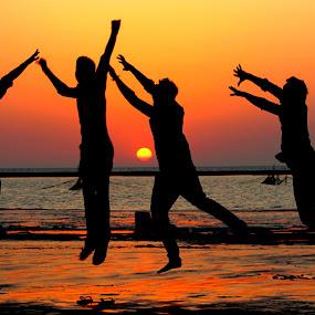 jumping  by Vijayendra Desai - People Group/Corporate (  )
